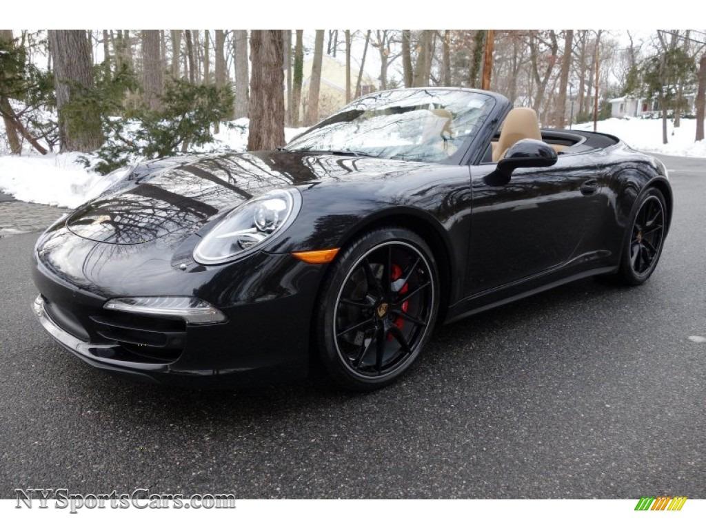 basalt black metallic blackluxor beige porsche 911 carrera 4s cabriolet