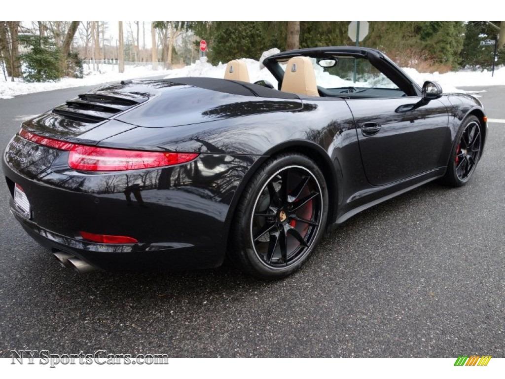 2014 911 carrera 4s cabriolet basalt black metallic blackluxor beige photo