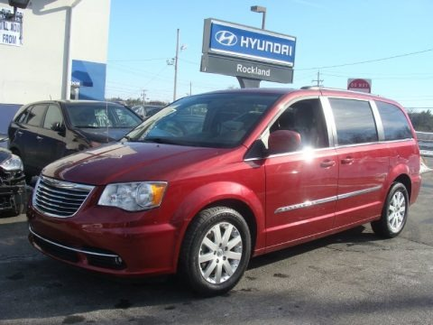 Deep Cherry Red Crystal Pearl 2013 Chrysler Town & Country Touring