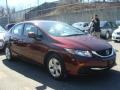 Honda Civic LX Sedan Crimson Red Pearl photo #3