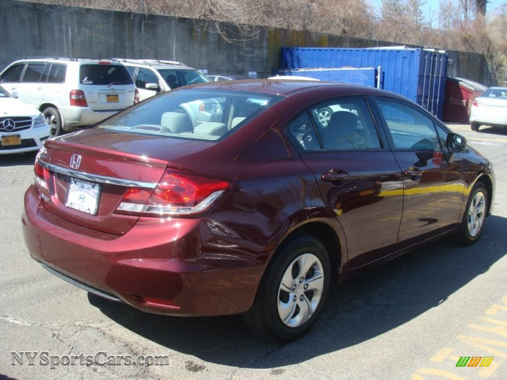 2013 honda civic lx sedan in crimson red pearl for sale photo 4 246060. Black Bedroom Furniture Sets. Home Design Ideas