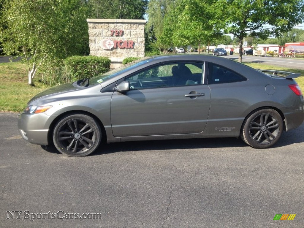 Galaxy Gray Metallic / Black Honda Civic Si Coupe