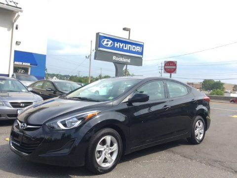 Blue 2014 Hyundai Elantra SE Sedan