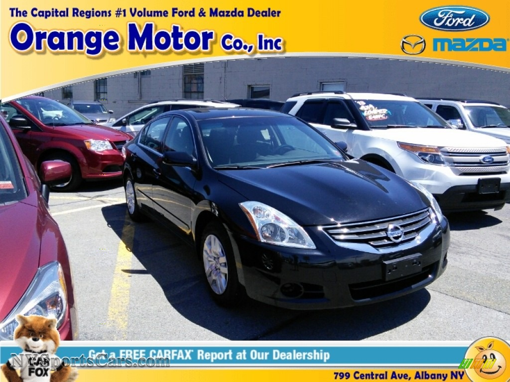 2012 nissan altima 2 5 sl in super black 547316 for Orange motors albany new york