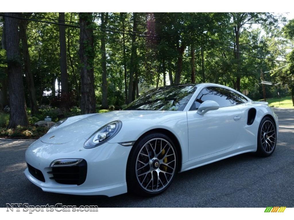 2015 911 turbo s coupe carrara white metallic blackgarnet red photo - 911 Porsche 2015 White