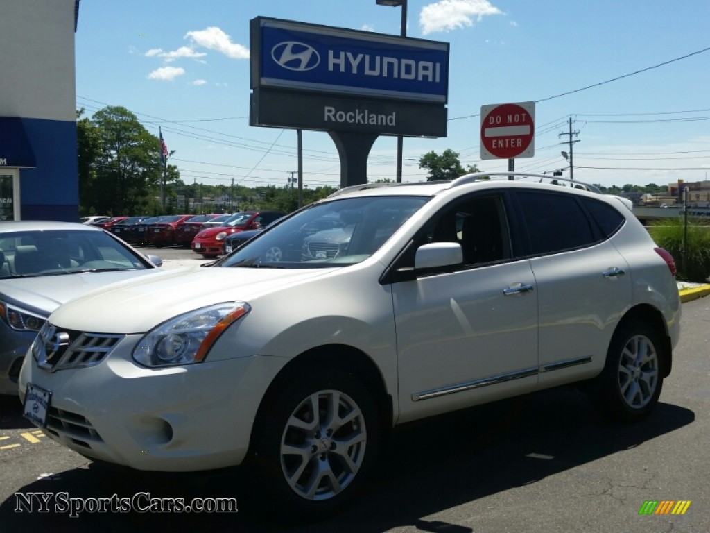 2012 nissan rogue sl awd in pearl white 417310 nysportscars pearl white black nissan rogue sl awd vanachro Image collections