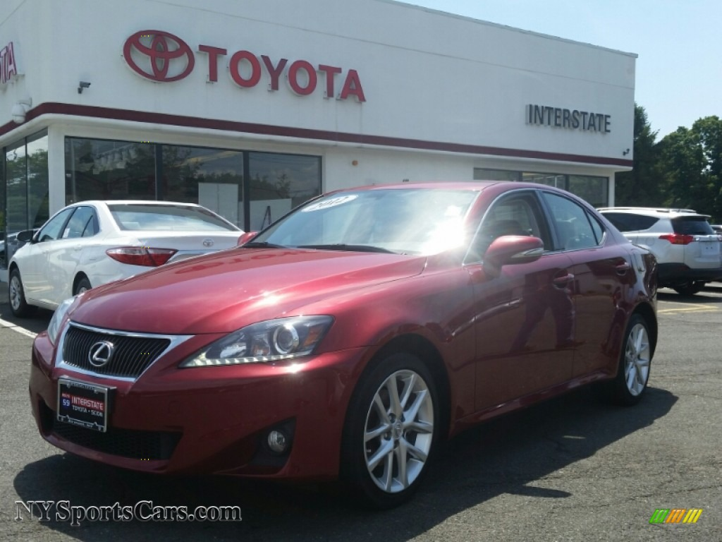 2012 Lexus Is 250 Awd In Matador Red Mica 058275 Cars For Sale In New York