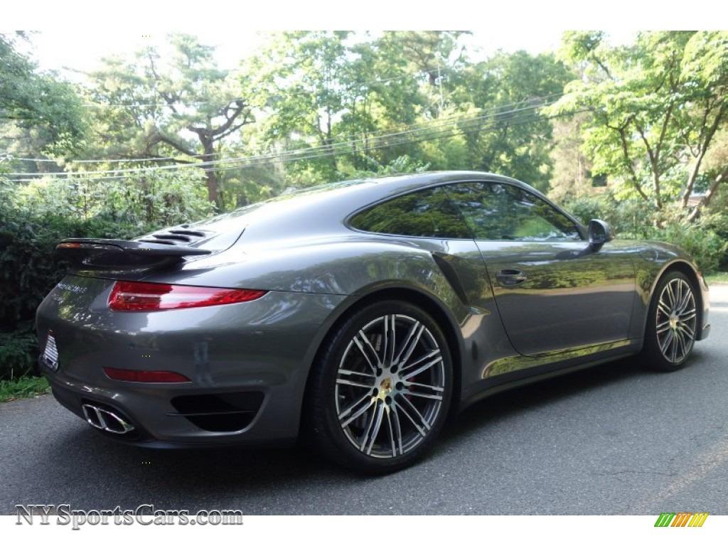2015 Porsche 911 Turbo Coupe In Agate Grey Metallic Photo
