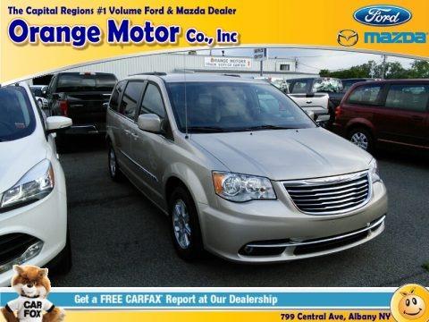 White Gold Metallic 2012 Chrysler Town & Country Touring