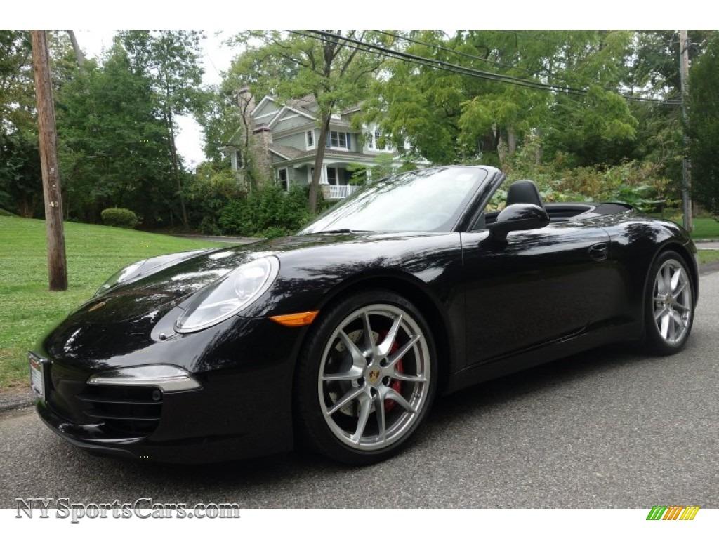 2013 porsche 911 carrera s cabriolet in basalt black