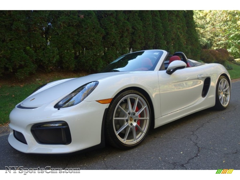 2016 porsche boxster spyder in carrara white metallic 152169 cars for. Black Bedroom Furniture Sets. Home Design Ideas