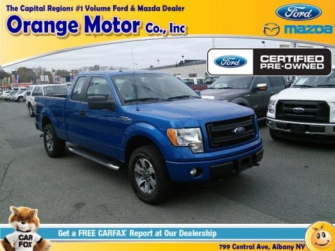 2015 ford f150 xlt supercab 4x4 in blue flame metallic for Orange motors albany new york