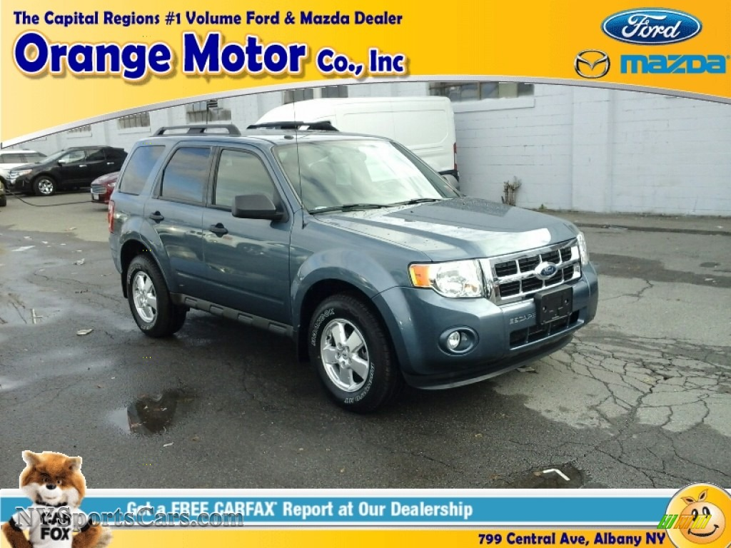 2011 Ford Escape Xlt V6 4wd In Steel Blue Metallic Photo