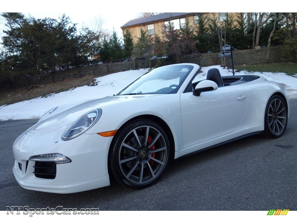 2014 Porsche 911 Carrera 4s Cabriolet In White 154480