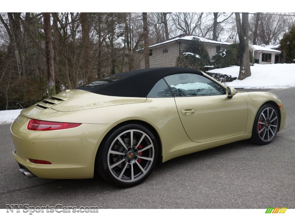 2013 Porsche 911 Carrera S Cabriolet In Lime Gold Metallic