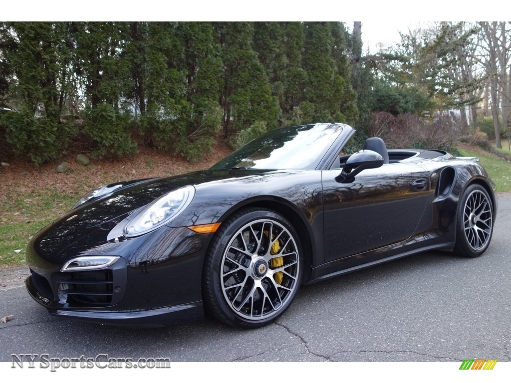 jet black metallic black porsche 911 turbo s cabriolet - Porsche 911 2015 Black