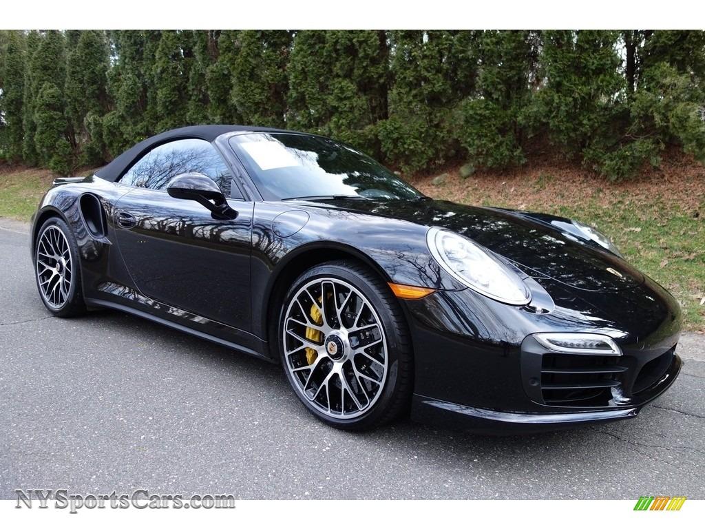 2015 911 turbo s cabriolet jet black metallic black photo 6