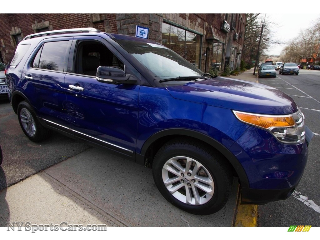 2014 Ford Explorer Xlt 4wd In Deep Impact Blue Photo 10 B47558 Charcoal Black
