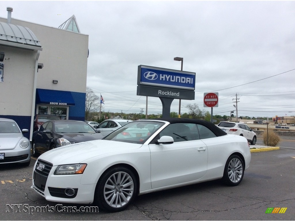 2011 A5 2.0T quattro Convertible - Ibis White / Black photo #1