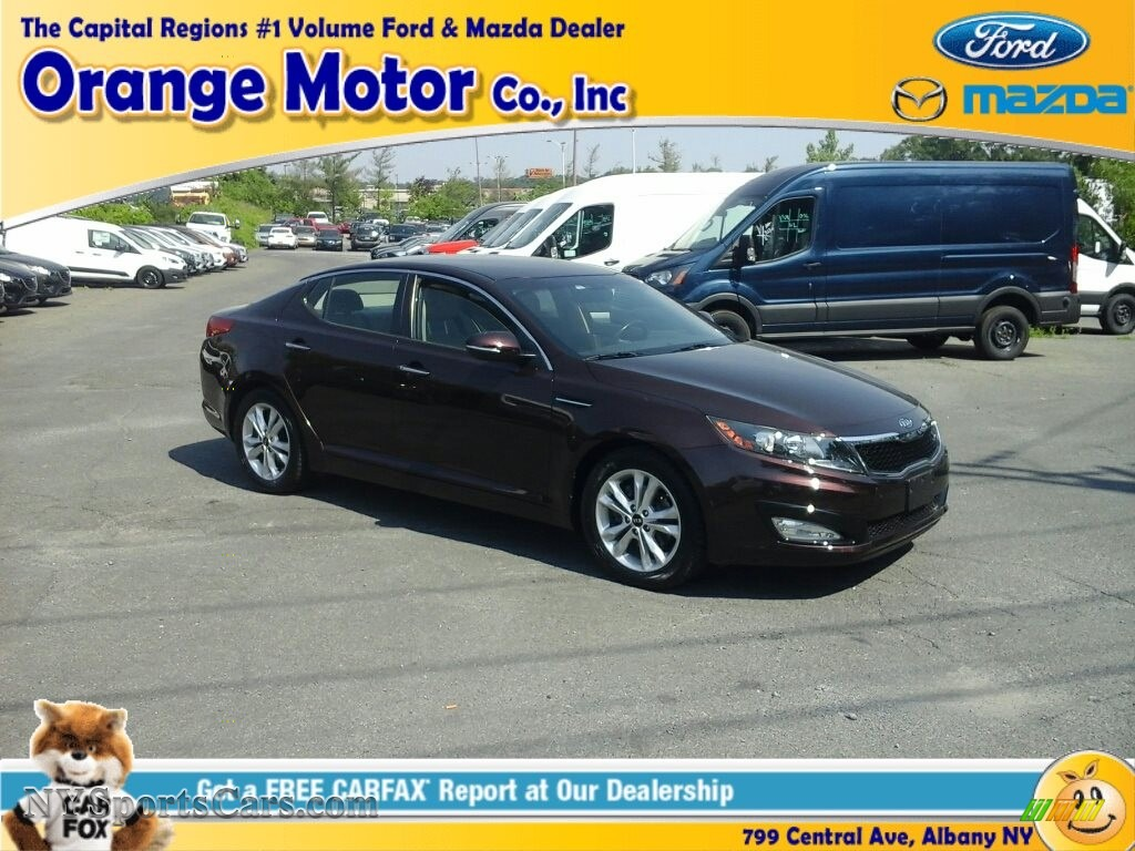 2011 Optima EX - Dark Cherry / Beige photo #1
