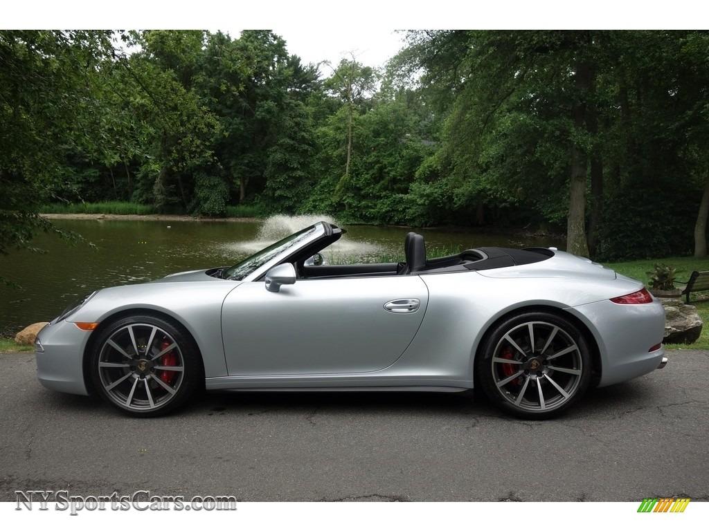 2014 porsche 911 carrera 4s cabriolet in rhodium silver metallic photo 3 155620. Black Bedroom Furniture Sets. Home Design Ideas