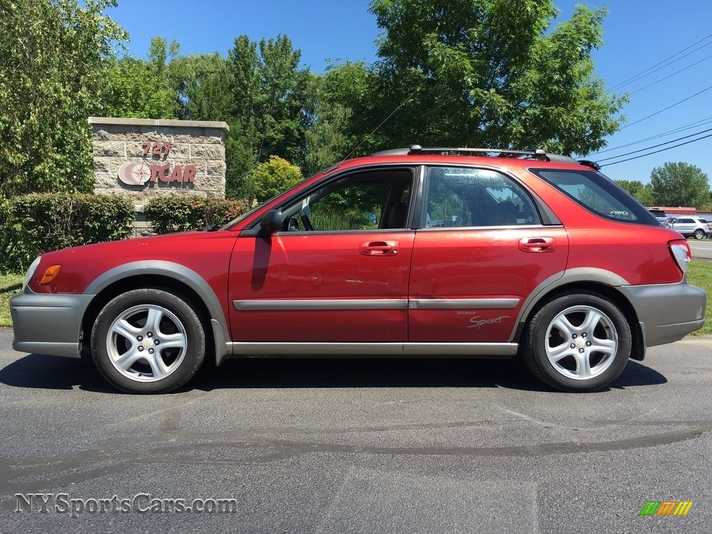 2002 subaru impreza outback sport wagon in sedona red. Black Bedroom Furniture Sets. Home Design Ideas