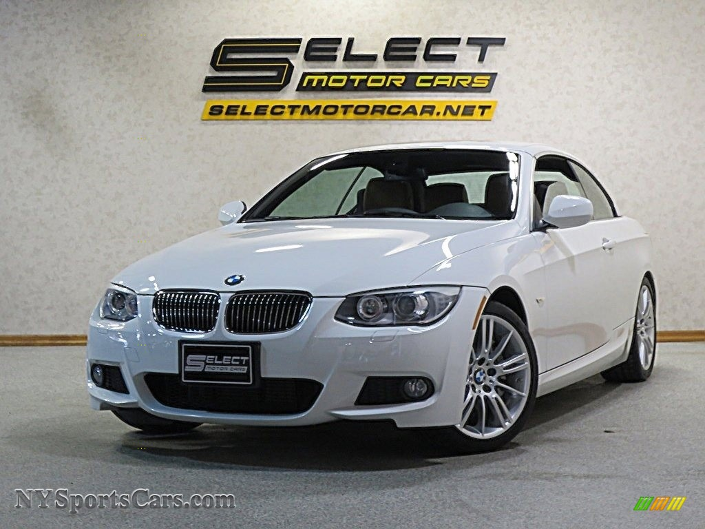2013 3 Series 335i Convertible - Alpine White / Cream Beige photo #1