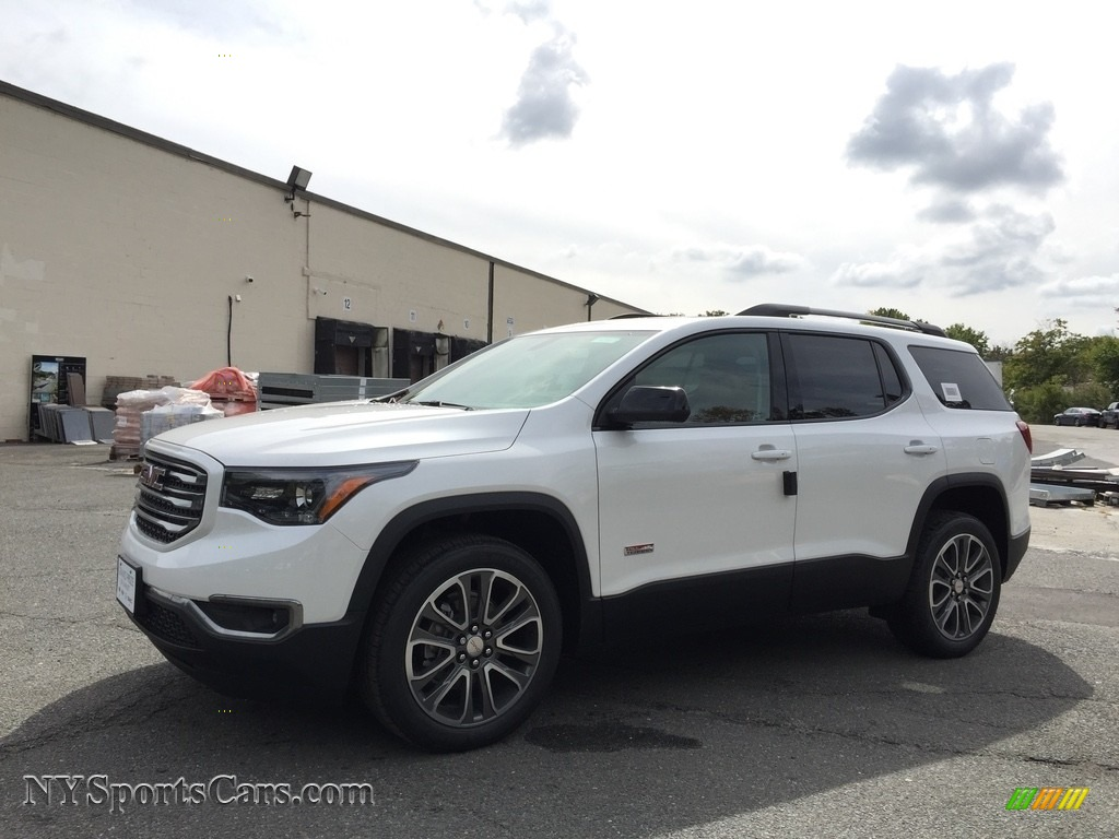 2017 gmc acadia all terrain slt awd in white frost tricoat 150214 cars. Black Bedroom Furniture Sets. Home Design Ideas