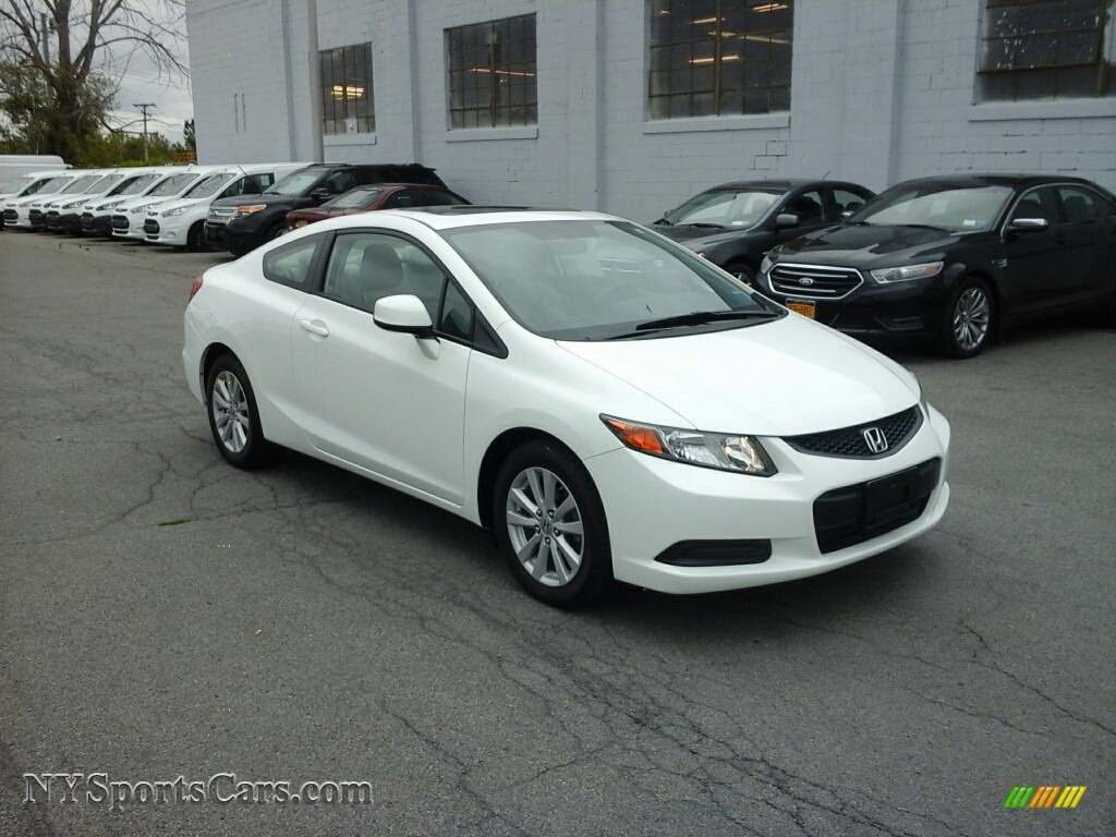 2012 Honda Civic Ex Coupe In Taffeta White 548829 Nysportscars Com Cars For Sale In New York