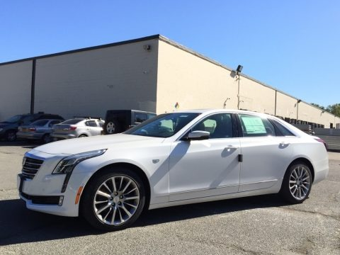 Crystal White Tricoat 2017 Cadillac CT6 3.0 Turbo Premium Luxury AWD Sedan