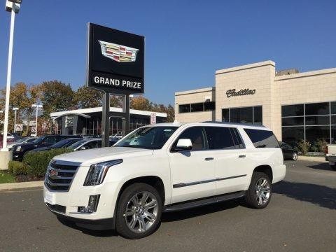Crystal White Tricoat 2017 Cadillac Escalade ESV Premium Luxury 4WD