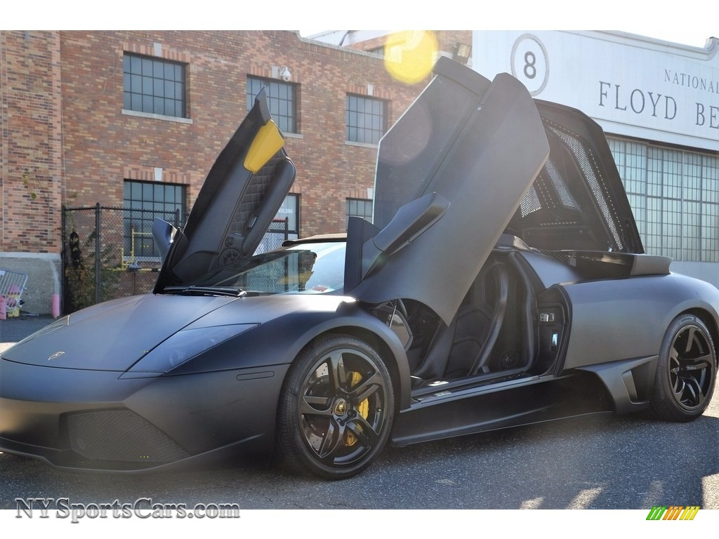 2008 Murcielago LP640 Roadster - Nero Aldebaran / Nero Perseus photo #1