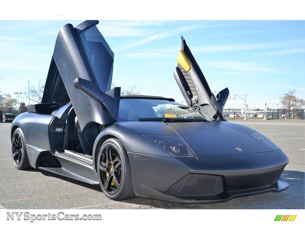 2008 Murcielago LP640 Roadster - Nero Aldebaran / Nero Perseus photo #2