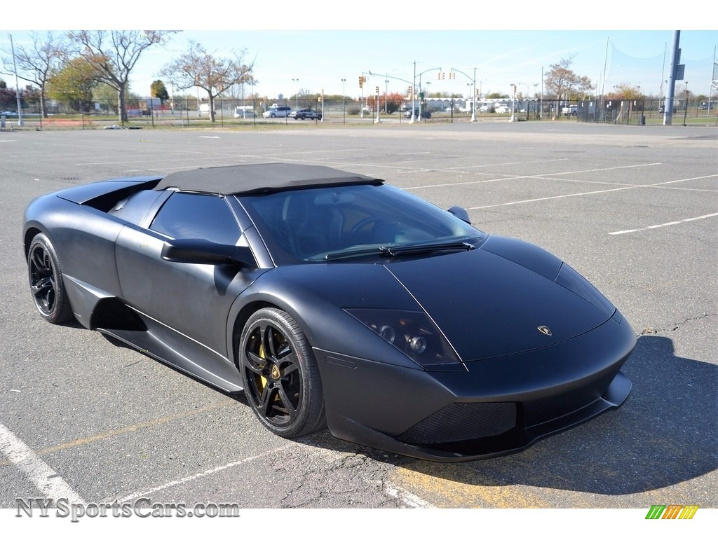 2008 Murcielago LP640 Roadster - Nero Aldebaran / Nero Perseus photo #4