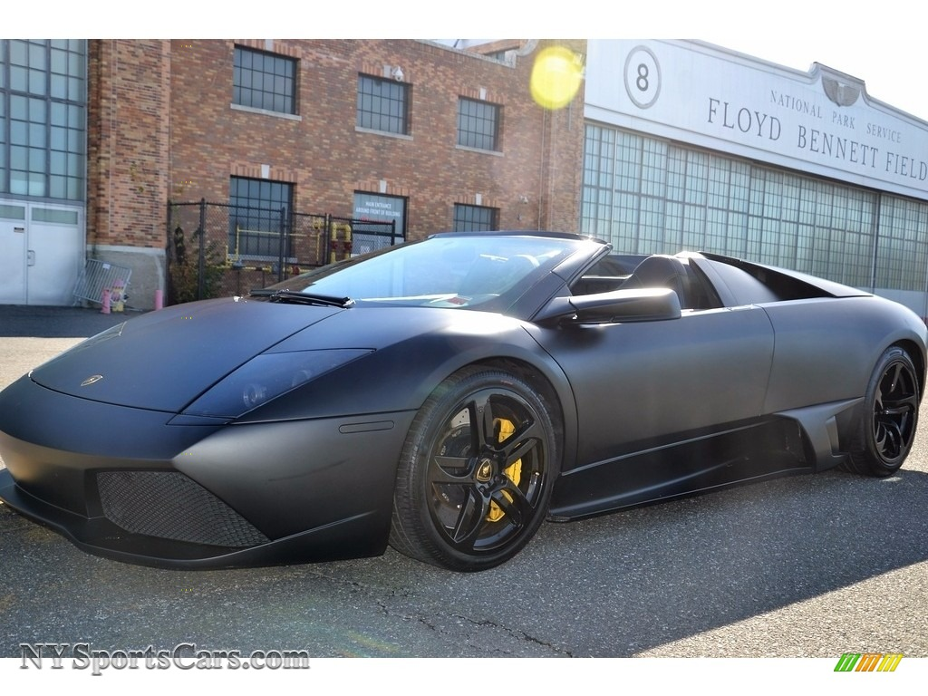 2008 Murcielago LP640 Roadster - Nero Aldebaran / Nero Perseus photo #12