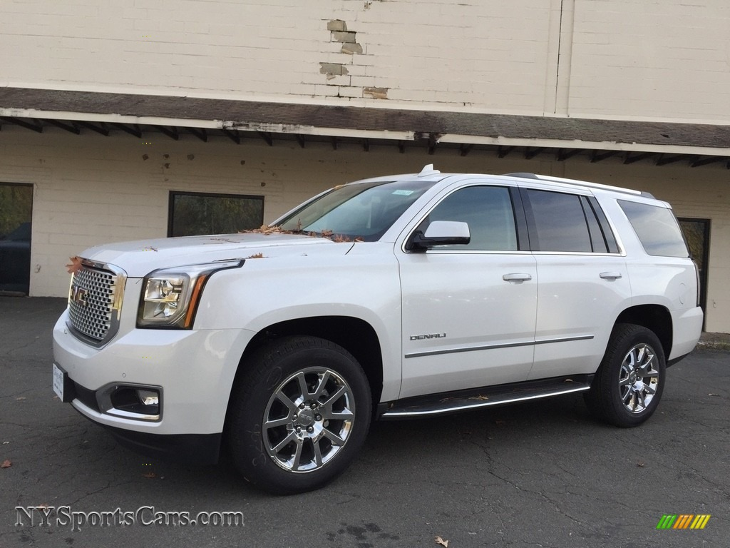 2017 gmc yukon denali 4wd in white frost tricoat 134950. Black Bedroom Furniture Sets. Home Design Ideas