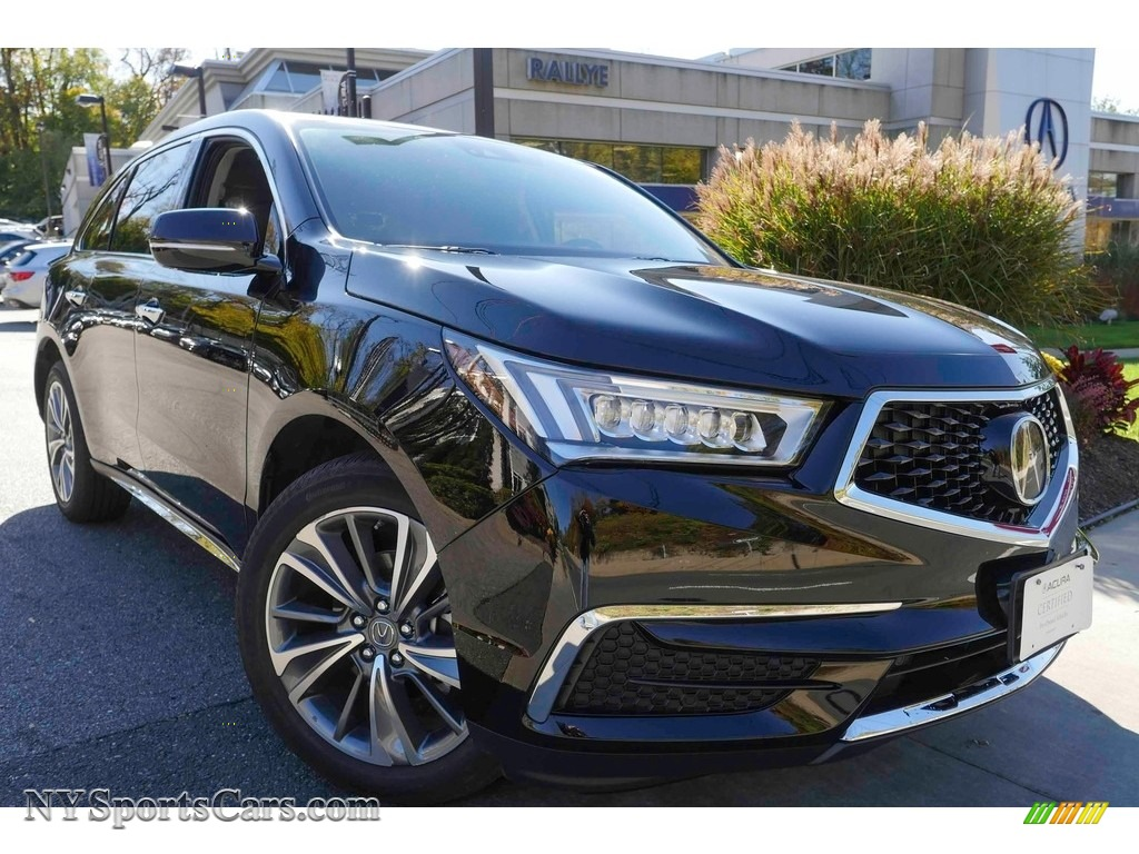 Crystal Black Pearl Ebony Acura Mdx Technology Sh Awd