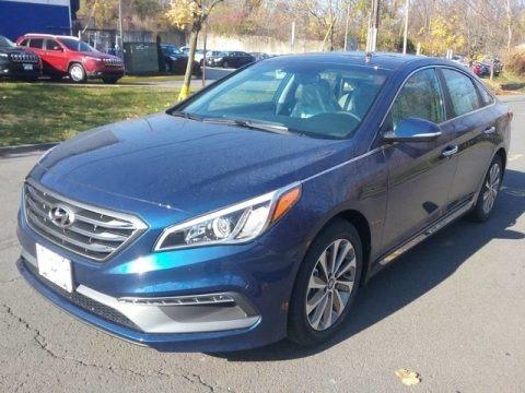 Lakeside Blue 2017 Hyundai Sonata Sport