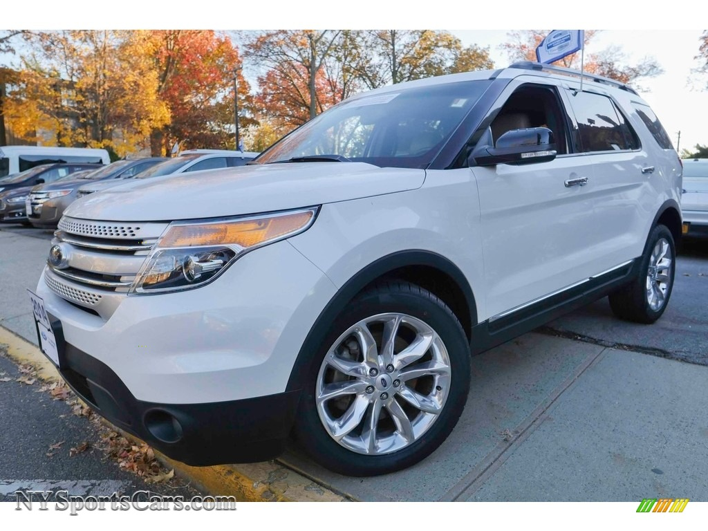 2014 Explorer XLT 4WD - White Platinum / Medium Light Stone photo #1