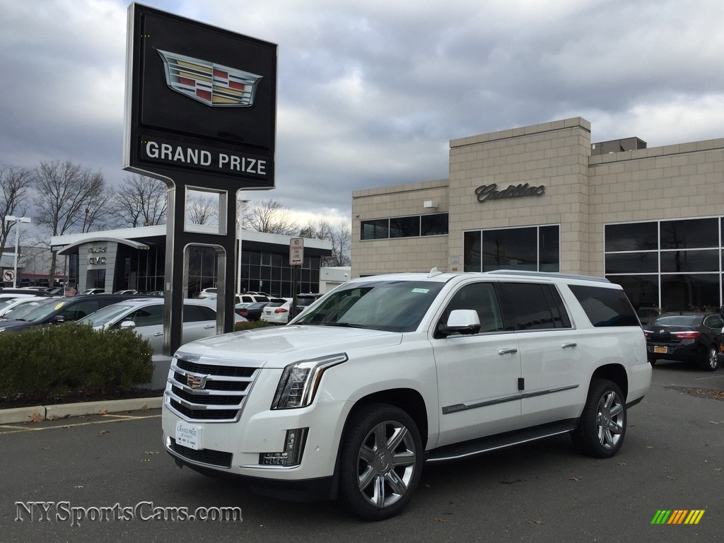 2017 cadillac escalade esv premium luxury 4wd in crystal white tricoat 109786 nysportscars. Black Bedroom Furniture Sets. Home Design Ideas