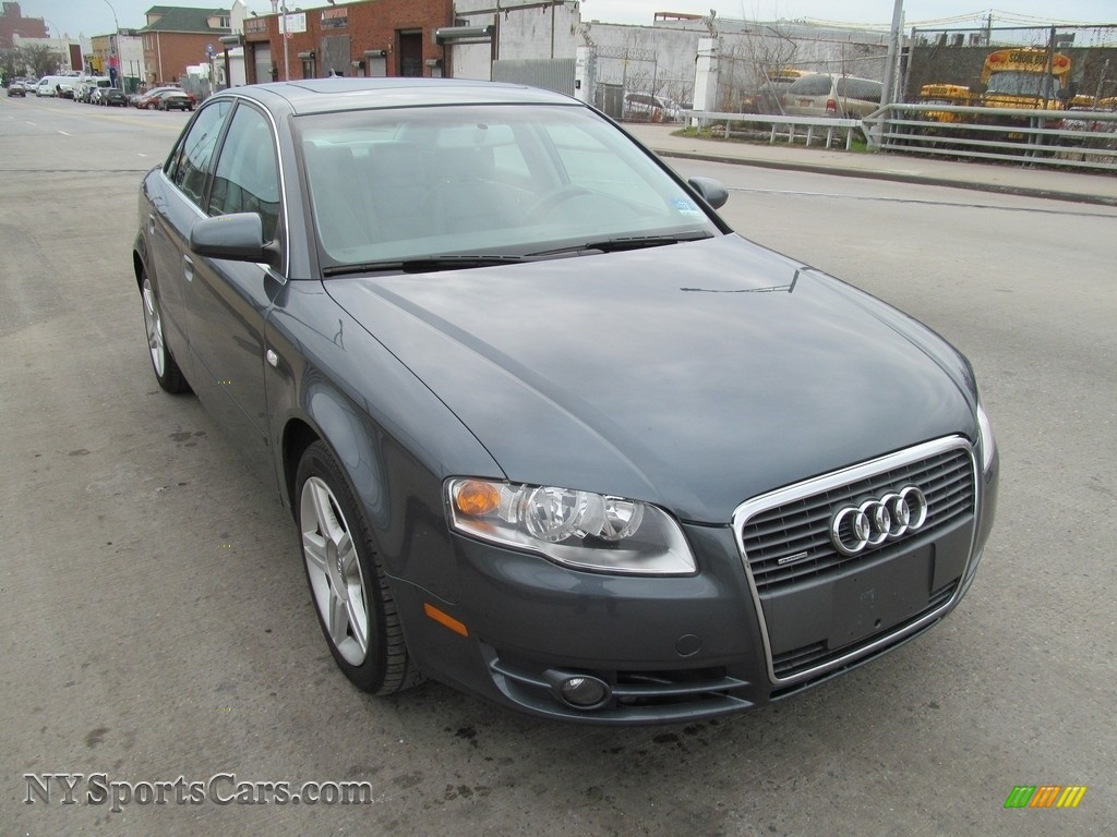 2007 A4 2.0T quattro Sedan - Quartz Gray Metallic / Beige photo #1