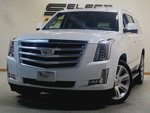 Crystal White Tricoat 2016 Cadillac Escalade Premium 4WD
