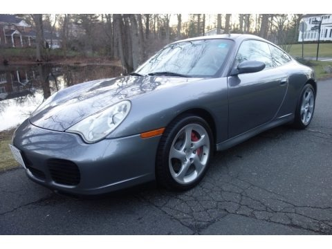 Seal Grey Metallic 2002 Porsche 911 Carrera 4S Coupe
