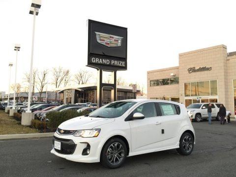 Summit White 2017 Chevrolet Sonic LT Hatchback