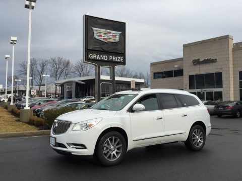 Summit White 2017 Buick Enclave Leather AWD