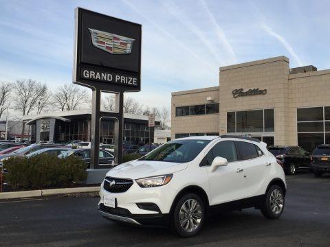 Summit White 2017 Buick Encore Preferred