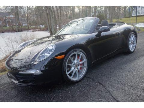 Black 2015 Porsche 911 Carrera S Cabriolet