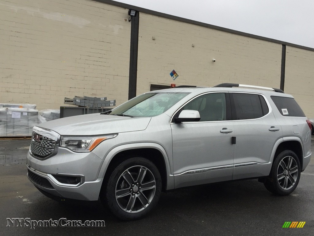 Quicksilver Metallic Jet Black Gmc Acadia Denali Awd