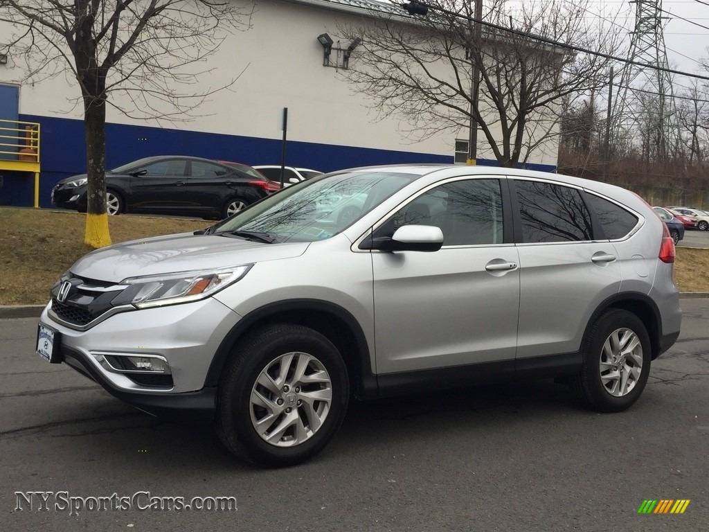 2016 CR-V EX AWD - Alabaster Silver Metallic / Black photo #1
