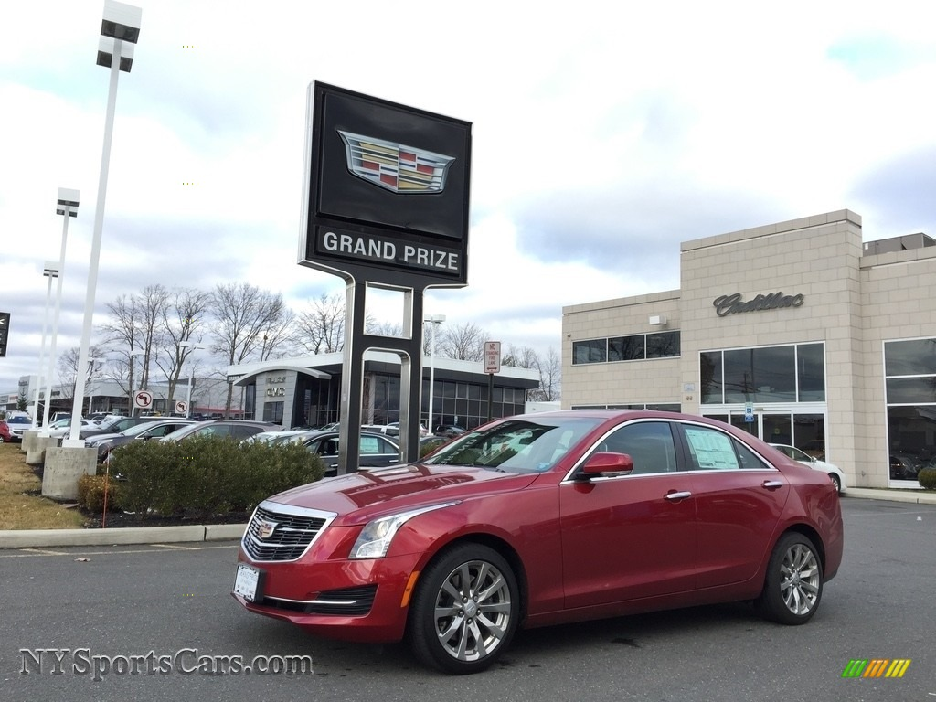 2017 ATS Luxury AWD - Red Obsession Tintcoat / Jet Black photo #1